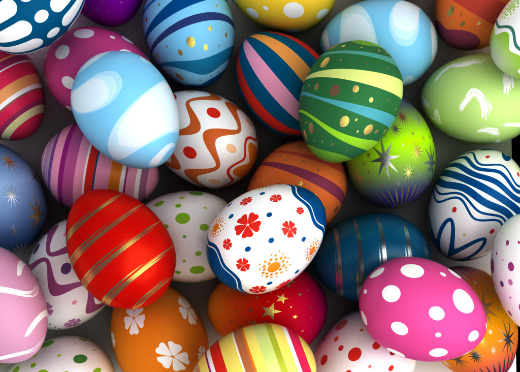 Beautifully decorated Easter eggs
